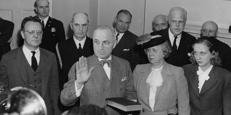 Harry S Truman Swearing In