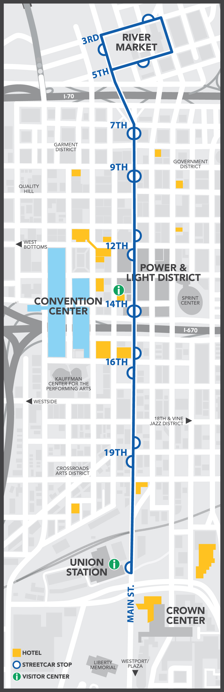 KC Streetcar Route Map