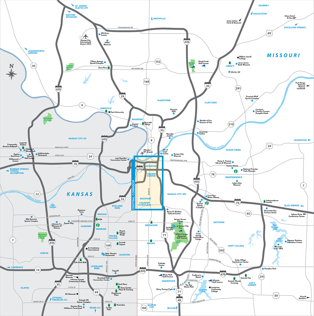 Kansas City Metro Map | Visit KC