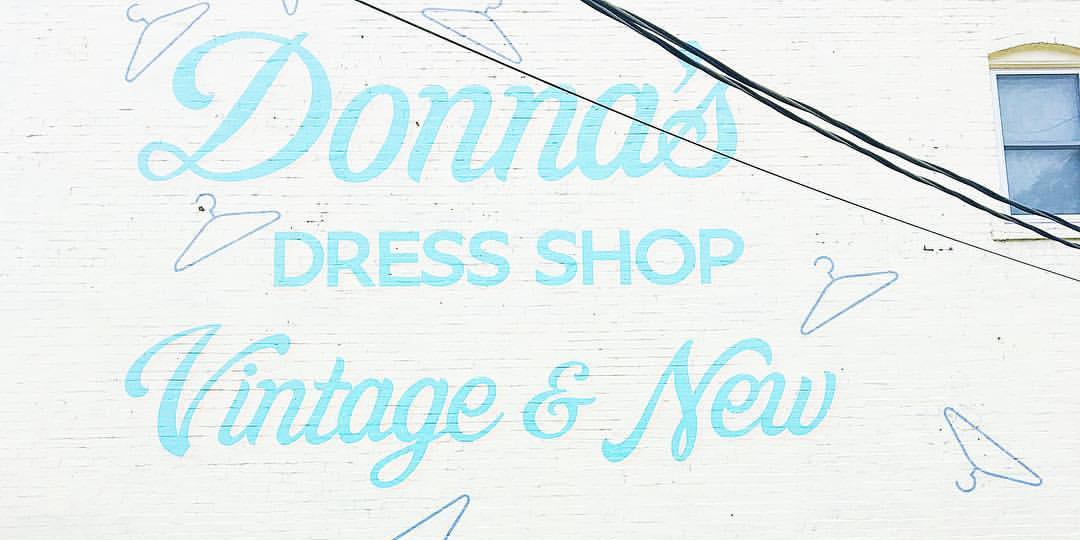 Donna's Dress Shop Wall