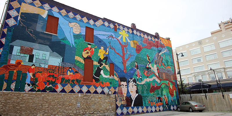 "Downtown KCK Mural | ""Facing the Past, Looking to the Future: A Kansas Hmong Storycloth"""