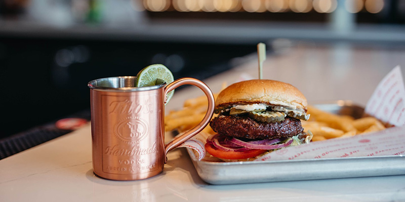Red Door Grill - Moscow Mule and Burger