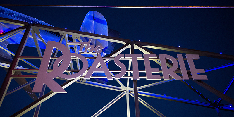 The Roasterie Sign on Southwest