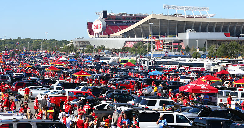 Sea of Red Tailgating at Arrowhead