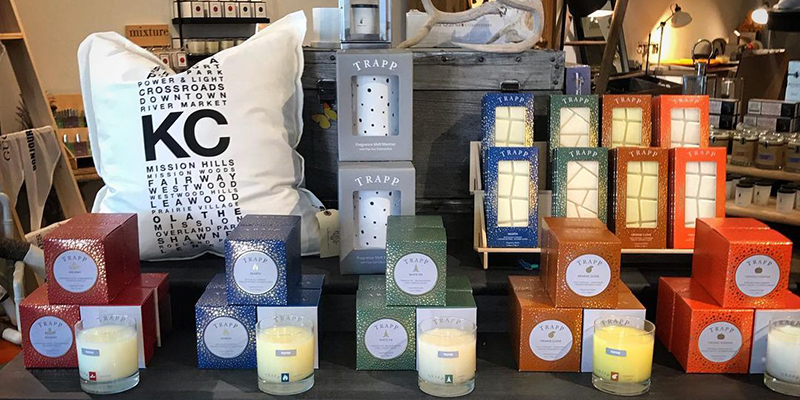 Candles and a KC pillow in the General Store KC