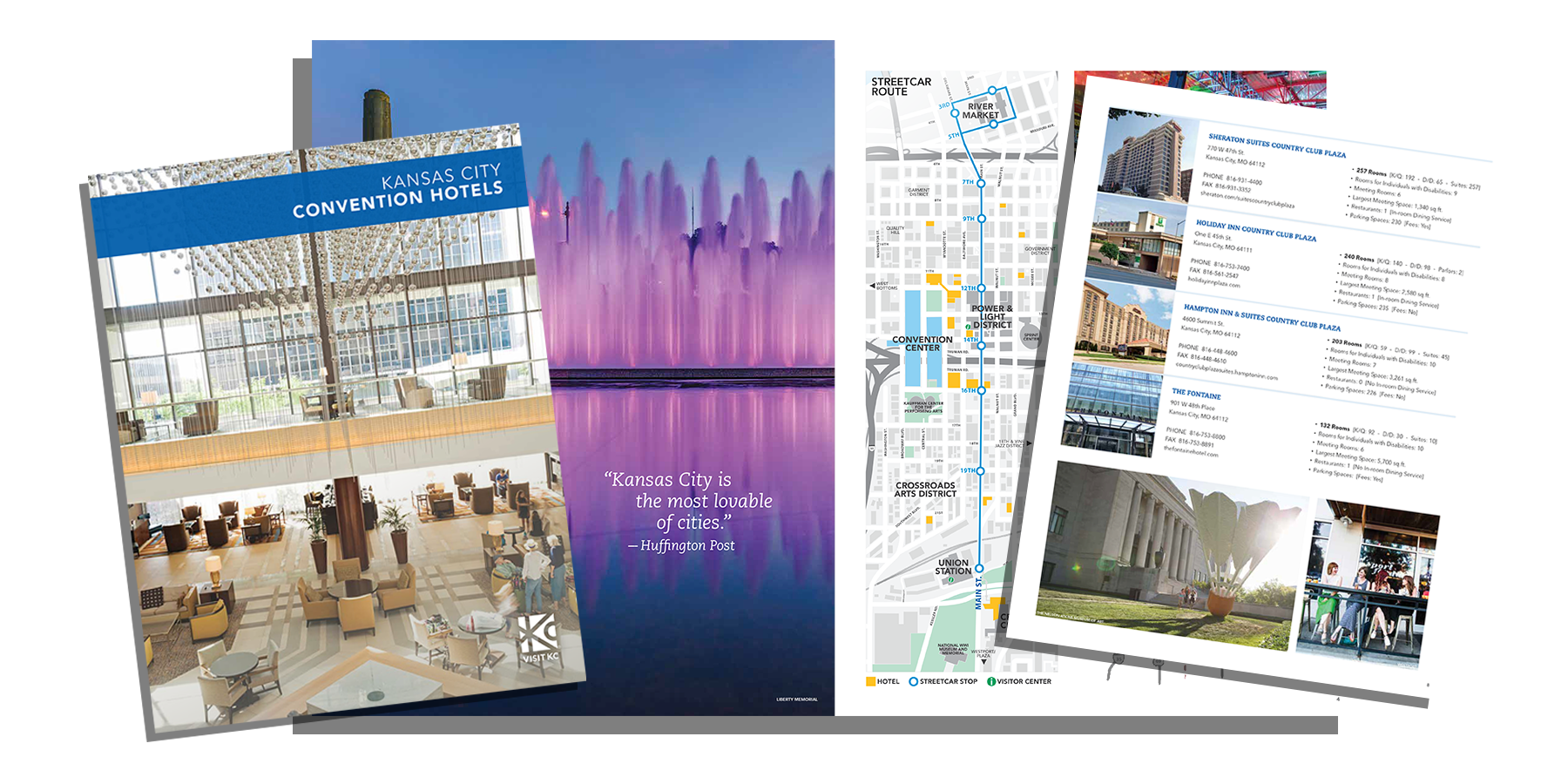 2018 Visit KC Convention Hotel Guide for Meeting Planners image collage