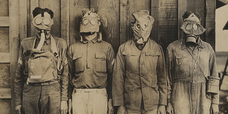 Types of gas masks tested by the U.S. in WWI