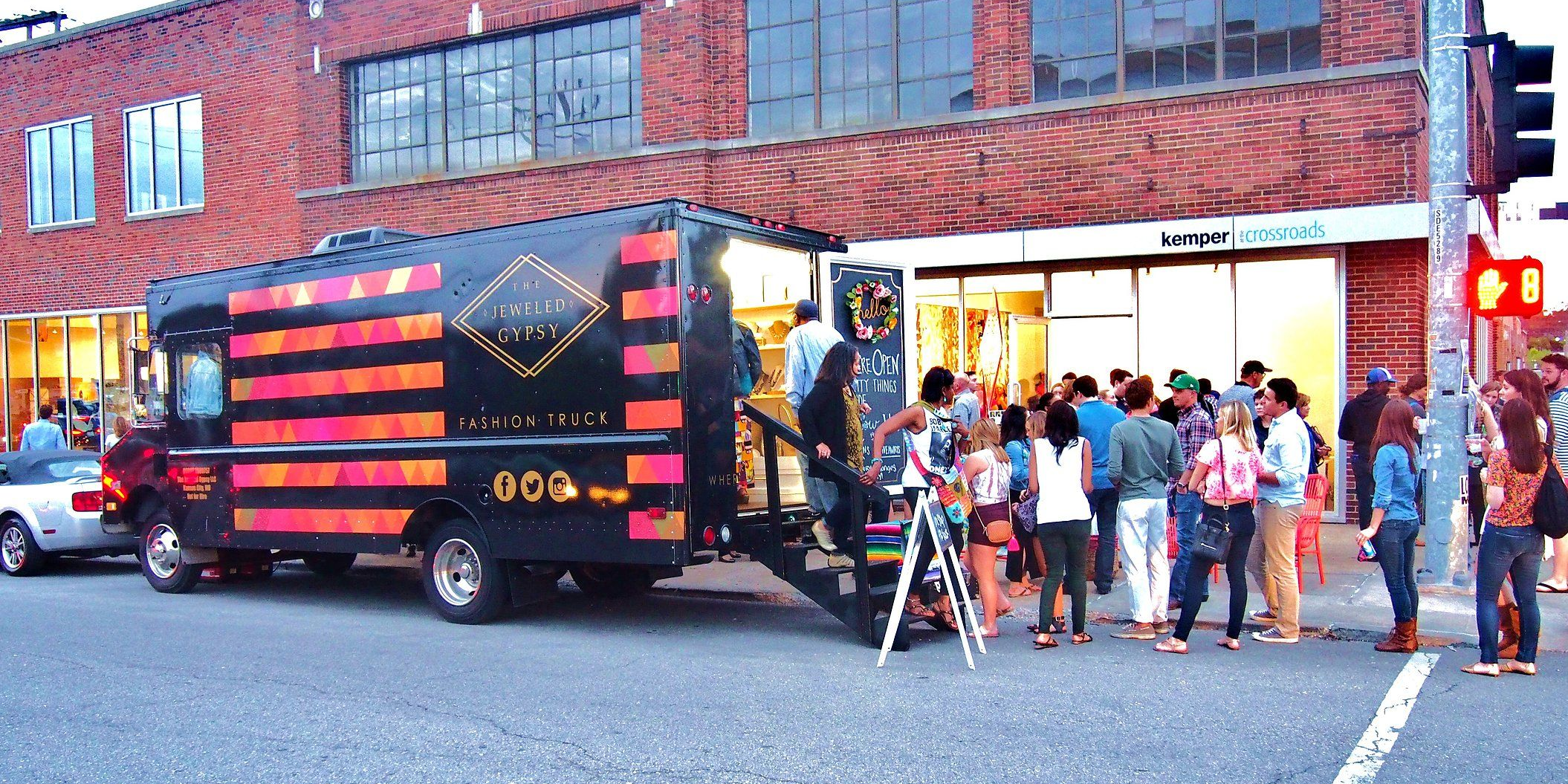 The Jeweled Gypsy fashion truck in Crossroad's Art District at First Friday's