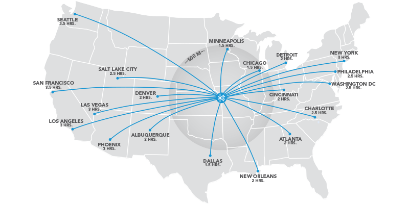 US Flight Map