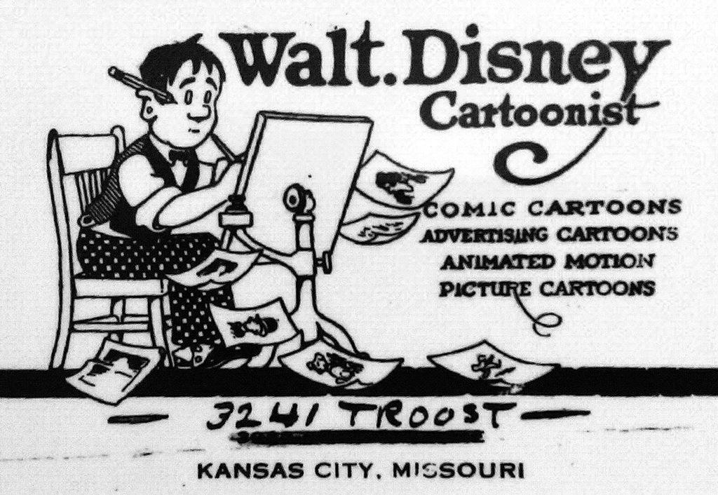 Walt Disney Cartoonist Advertisement