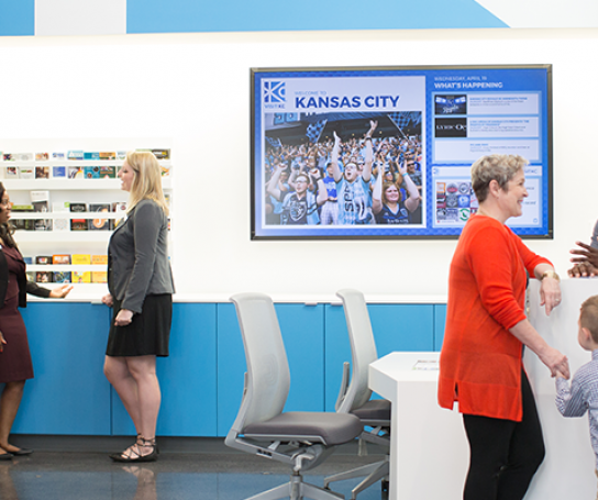 Visit KC Visitor Center located at 1321 Baltimore Ave.
