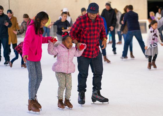 Ice Skating at Crown Center