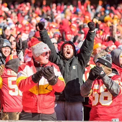 Kansas City Chiefs Fans Cheering