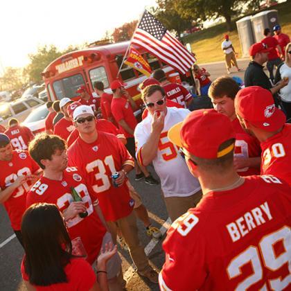 Fans Tailgating at Arrowhead Stadium